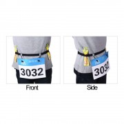 Aonijie E4085 馬拉松跑步比賽號碼布固定帶 ( 黑色 )