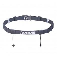 Aonijie E4076 馬拉松跑步比賽號碼布固定帶 ( 灰色 )