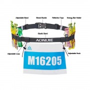 Aonijie E4076 Running Marathon Belt With Number Strap & 6 Loops for Energy Gel ( Grey )