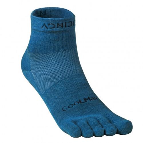 Aonijie E4109S 銀離子抗菌運動跑步五趾襪 – 中筒