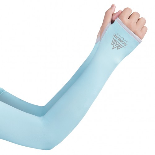 Aonijie E4117 冰絲UPF50+ UV防曬露指袖套 防曬手袖