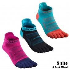 Aonijie E4801 運動五趾襪 (3對裝/混色) 跑步|越野|登山|戶外遠足