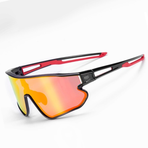 Cateye A.R. Sports Sunglasses|Polarized|Cycling Glasses (Black/Red)