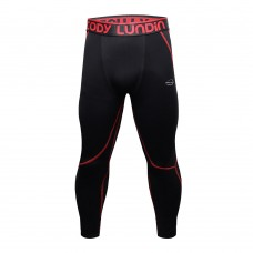Cody Lundin Black/Red V2|Men Long Compression Pant|Sportwear