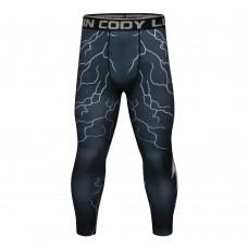 Cody Lundin 閃電|男裝長緊身褲|運動服裝|健身壓力褲