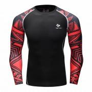 Cody Lundin CT105 Black Red Graphics|Men Long-Sleeve Compression Shirt|Sportwear
