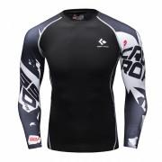 Cody Lundin CT106 Black Word|Men Long-Sleeve Compression Shirt|Sportwear
