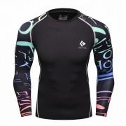 Cody Lundin CT116黑底韓文 男裝長袖緊身衣 運動服裝 健身壓力衣