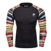 Cody Lundin CT118 Black Rainbow Men Long-Sleeve Compression Shirt Sportwear