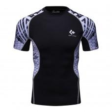 Cody Lundin CT137 黑底蛇紋|男裝短袖緊身衣|運動服裝|健身壓力衣