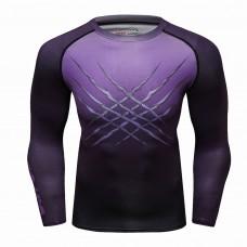 Cody Lundin CT229紫色豹|男裝長袖緊身衣|運動服裝|健身壓力衣