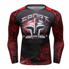 Cody Lundin CT231紅色斯巴達|男裝長袖緊身衣|運動服裝|健身壓力衣