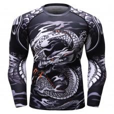 Cody Lundin CT257中國龍|男裝長袖緊身衣|運動服裝|健身壓力衣