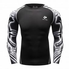 Cody Lundin CT78黑底紋身刺青|男裝長袖緊身衣|運動服裝|健身壓力衣
