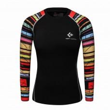 Cody Lundin WCT29黑底彩虹|女裝長袖壓力衣|運動服裝|瑜珈緊身衣