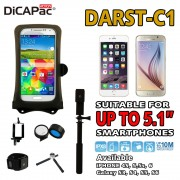 DiCAPac Action DARST-C1 Waterproof Case Selfie Bluetooth Set for Smartphone