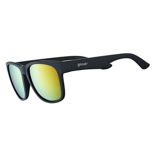 Goodr BFG 運動跑步太陽眼鏡- 黑色(黃鏡) 闊框版