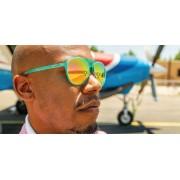 Goodr MG 運動跑步太陽眼鏡- 綠色(粉紅鏡)