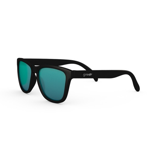 Goodr 運動跑步太陽眼鏡 - 黑色 (綠鏡)