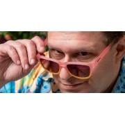 Goodr 運動跑步太陽眼鏡 - 粉紅色(黑鏡)